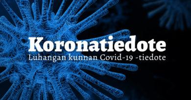 Luhangan kunnan tiedote koronaviruksen vuoksi 2.9. – Seuraamme viruksen etenemistä